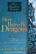 Image of Here, There Be Dragons Book Cover.