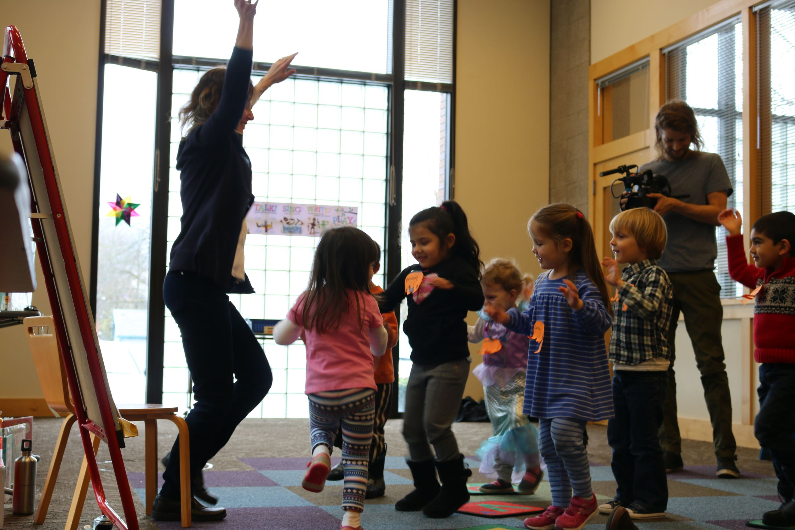 Image of preschool Storytime at Beaverton City Library Main.