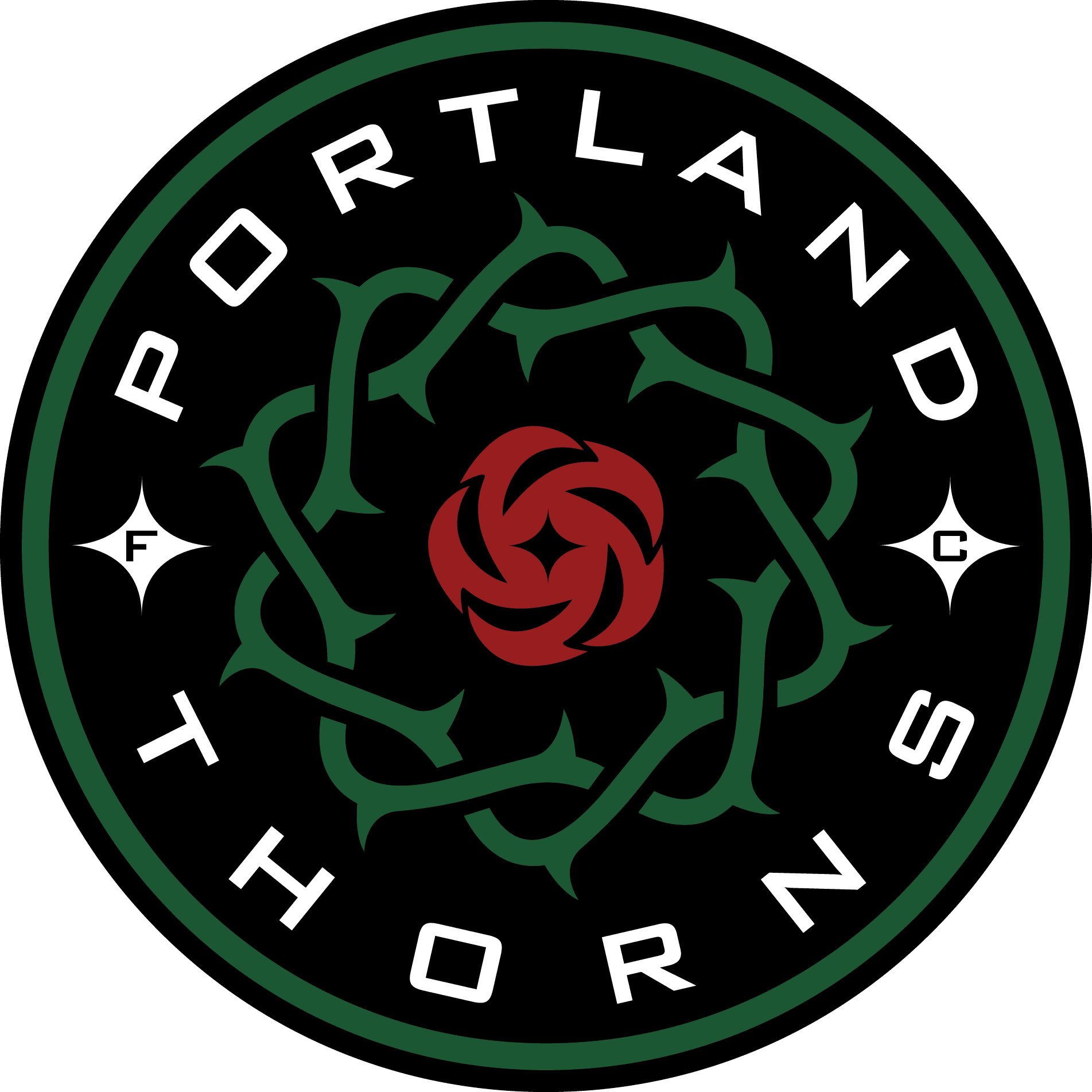 Logo for Portland Thorns, Oregon professional women's soccer team.