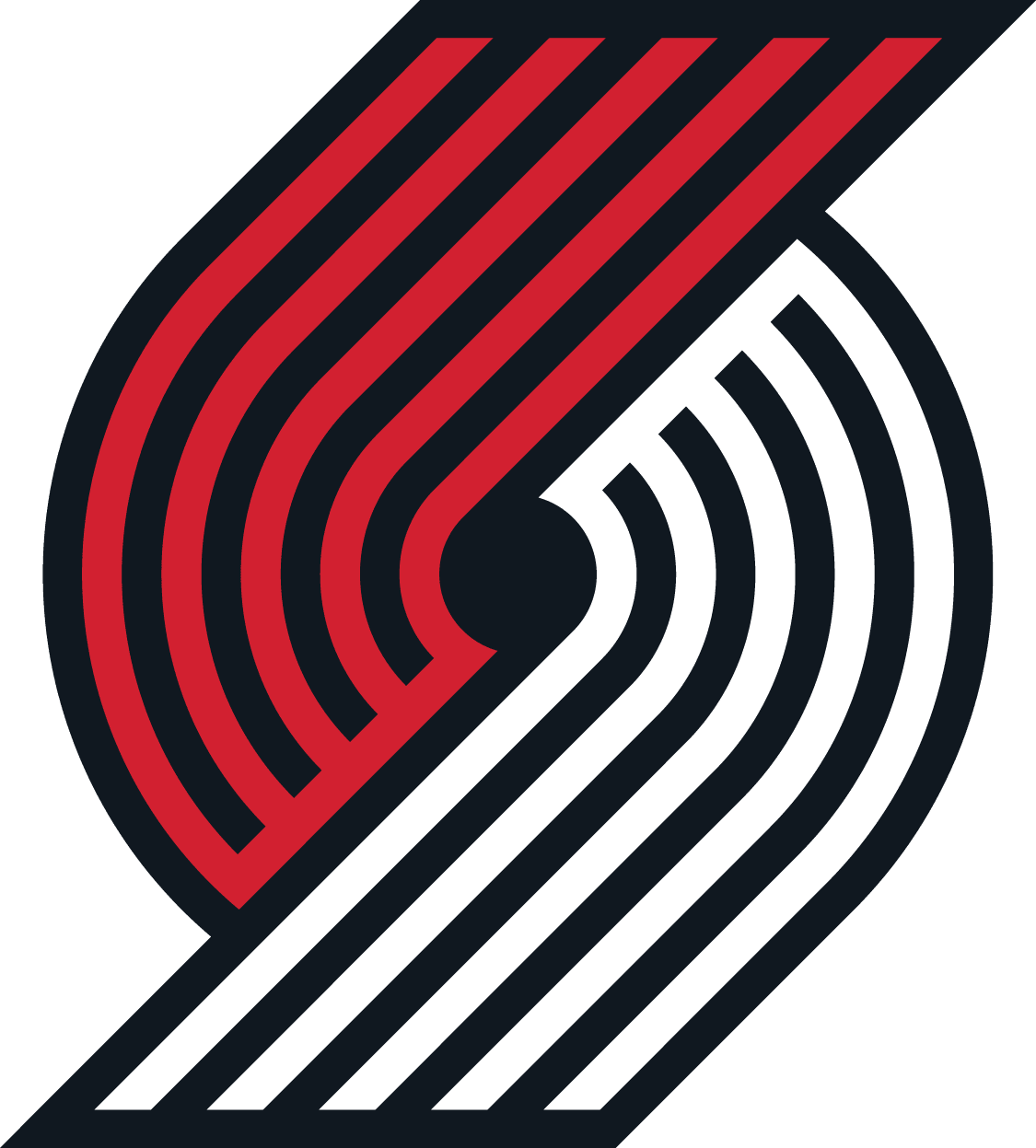 Logo for Portland Trail Blazers, Oregon professional men's basketball team.