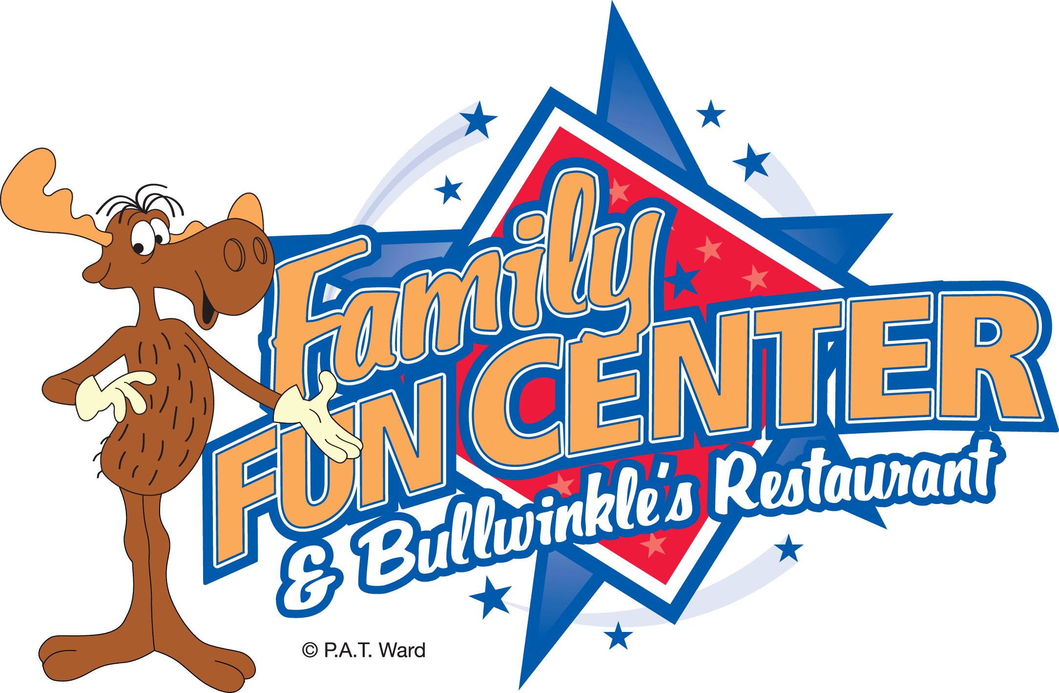 Logo for Family Fun Centers, Bullwinkle's Restaurant.