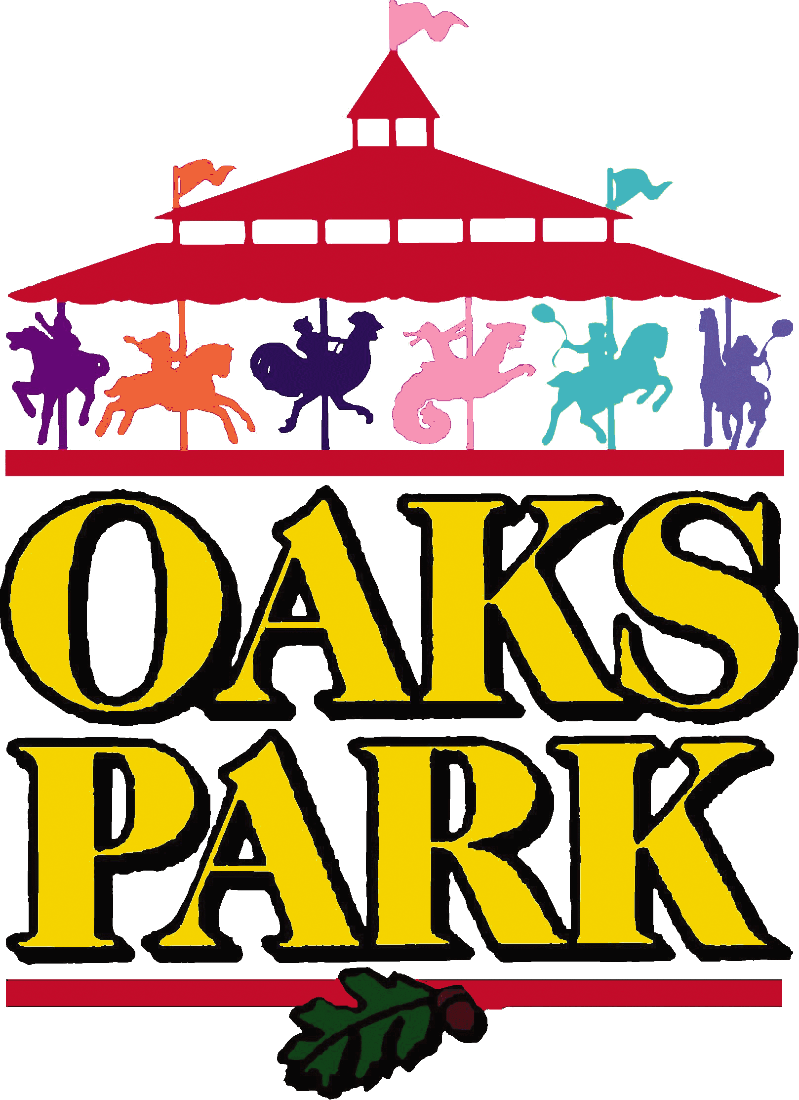 Logo for Oaks Park, Portland amusement park.