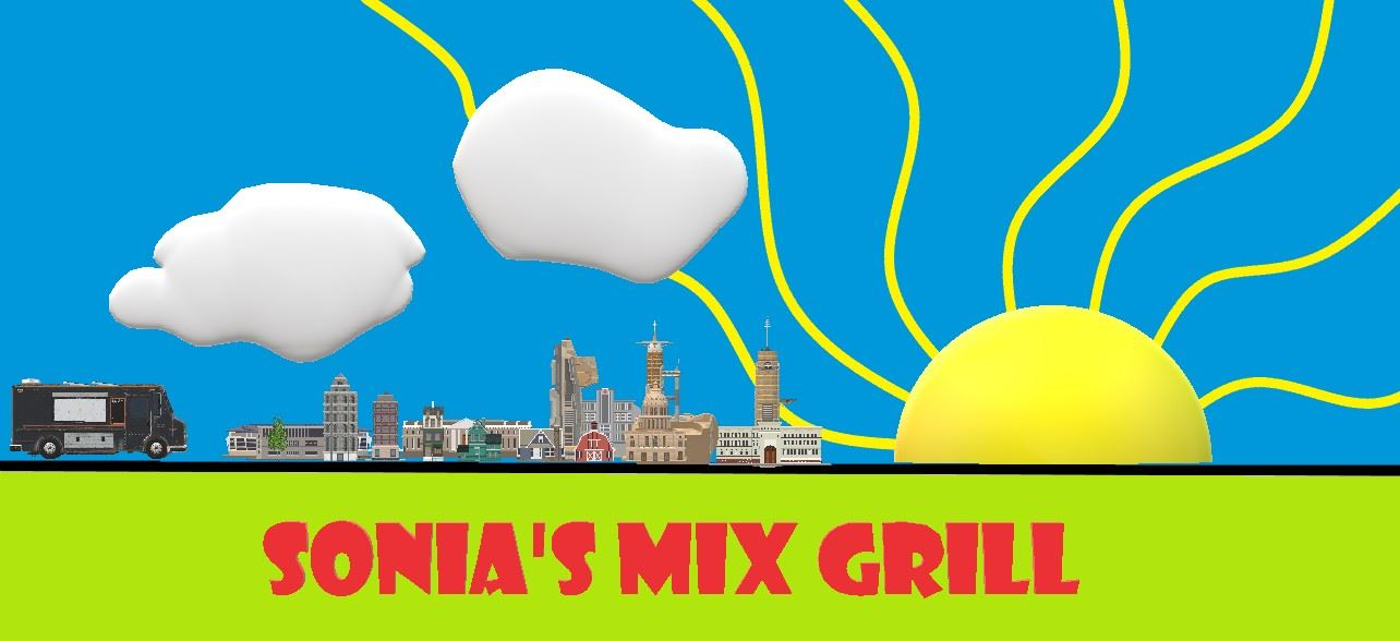 Logo for Sonia's Mix Grill, Beaverton restaurant featuring Salvadorian and Mexican cuisine.