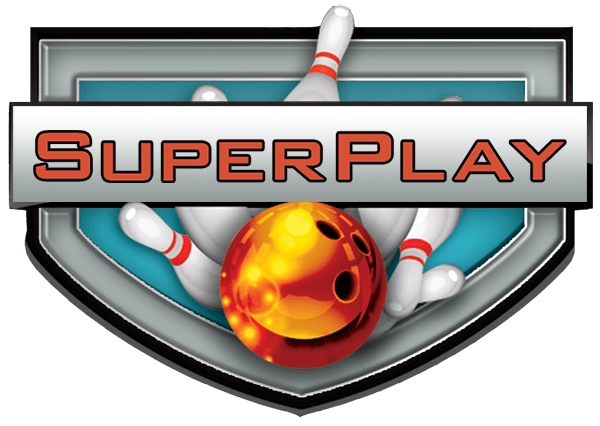 Logo for SuperPlay, Beaverton arcade, bowling and laser tag facility.