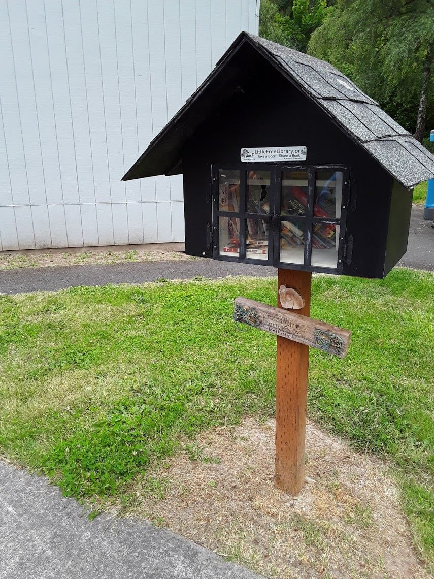 Image of Little Free Library at Highland Park Middle School.