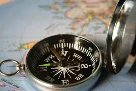 Image of a compass and a map
